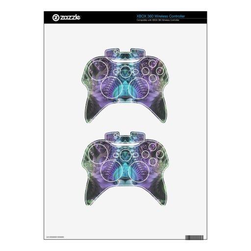 Piel brillante del fractal para la caja de X Mando Xbox 360 Calcomanía