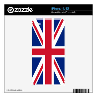 piel británica del iphone 4/4s del Union Jack de Calcomanías Para El iPhone 4