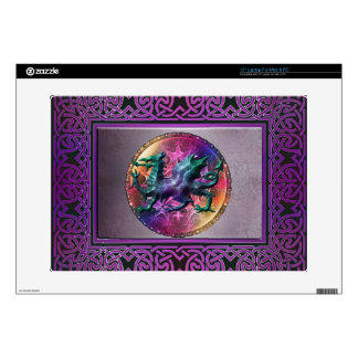 Piel céltica mística del dragón del arco iris 38,1cm portátil calcomanías