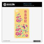 Piel china del iPhone 4/4S del Año Nuevo del batik Skins Para iPhone 4