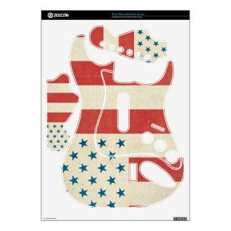 Piel civil americana de la bandera de la paz rock band guitar skin