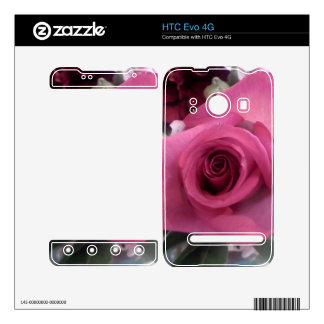 Piel color de rosa rosada de Zazzle para HTC EVO 4 HTC Evo 4G Calcomanías