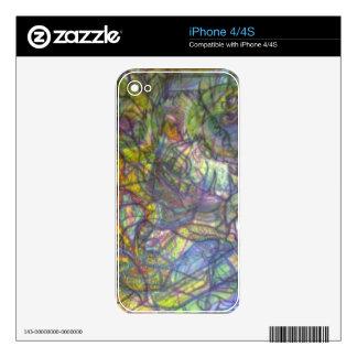 Piel coloreada Trippy del lápiz Calcomanías Para El iPhone 4