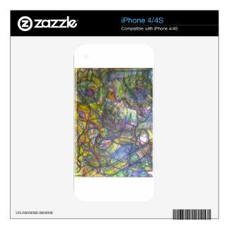 Piel coloreada Trippy del lápiz iPhone 4 Calcomanía