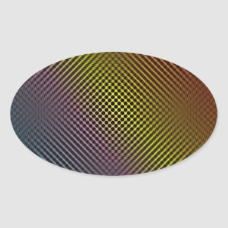 piel coloreada vol.1 de la fibra de carbono calcomanía de óval personalizadas