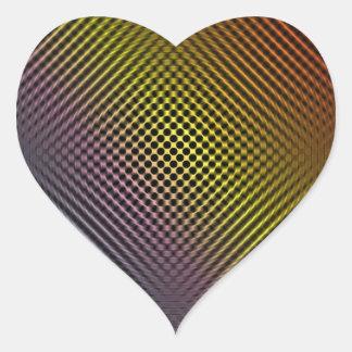 piel coloreada vol.1 de la fibra de carbono calcomanías corazones personalizadas
