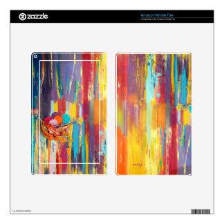 Piel colorida abstracta