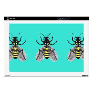 """Piel colorida de la abeja para 17"""" ordenador portátil calcomanías"""