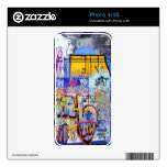 Piel colorida del iPhone 4 de la pintada Skin Para El iPhone 4