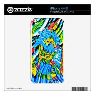 Piel colorida del iPhone 4 del dragón iPhone 4 Skin