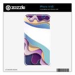 Piel con diseño abstracto calcomanías para iPhone 4S