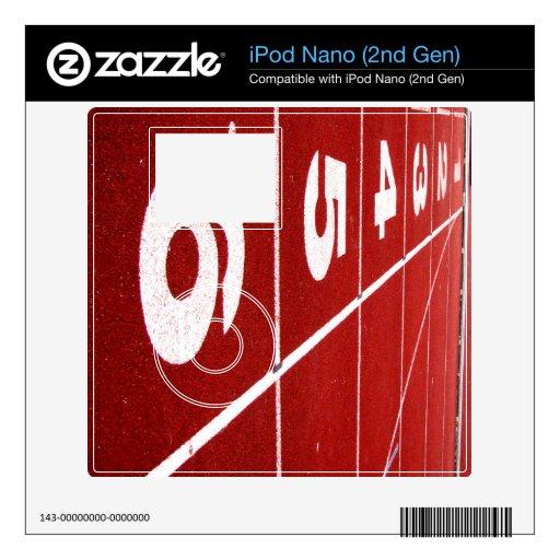 Piel corriente del iPod nano de la pista (2da GEN) Calcomanía Para iPod Nano