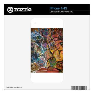 Piel de acrílico Trippy 2 Skins Para eliPhone 4S
