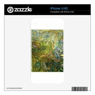 Piel de acrílico Trippy Calcomanía Para El iPhone 4