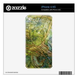 Piel de acrílico Trippy Calcomanías Para El iPhone 4S