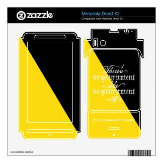 Piel de Ancap Motorola Droid X2 Calcomanías