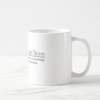 Piel de ante de la historia taza de café