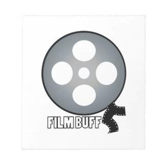 Piel de ante de la película blocs de papel