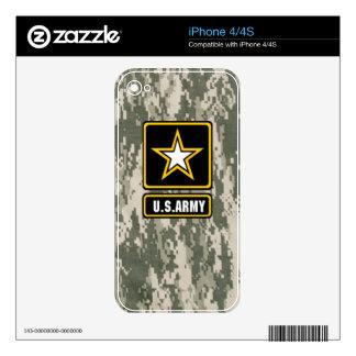 Piel de Camo del ejército de Digitaces Skin Para El iPhone 4