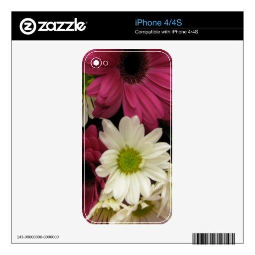 Piel de Daisys Zazzle para IPhone 4/4S Calcomanía Para iPhone 4S
