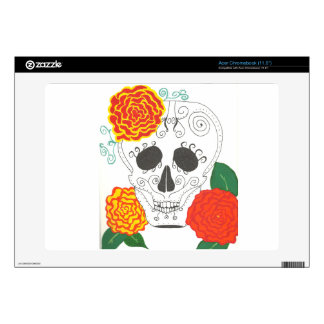 Piel de Dia De Los Muertos Computer Calcomanía Para Acer Chromebook