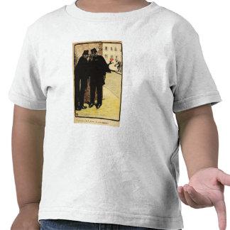 Piel de dos policías de la esposa de la comisión camisetas