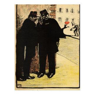 Piel de dos policías de la esposa de la comisión postal