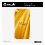 Piel de encargo de la electrónica de RHYS Prenamed Skins Para eliPhone 4
