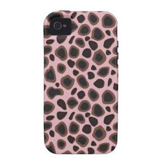 Piel de encargo del leopardo de Africankoko, piel  Vibe iPhone 4 Funda