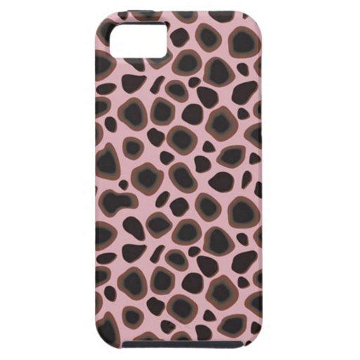 Piel de encargo del leopardo de Africankoko, piel  iPhone 5 Funda