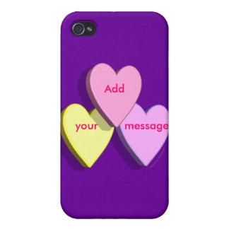 Piel de encargo personalizada del mensaje del cara iPhone 4 cárcasas