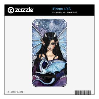Piel de hadas gótica del iPhone 4 del dragón de la Skins Para eliPhone 4