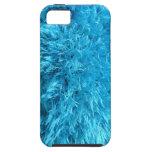 Piel de imitación azul borrosa iPhone 5 Case-Mate carcasa