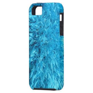 Piel de imitación azul borrosa iPhone 5 carcasas