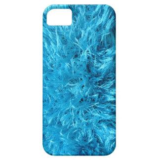 Piel de imitación azul borrosa iPhone 5 funda