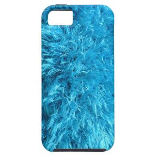 Piel de imitación azul borrosa iPhone 5 fundas