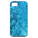 Piel de imitación - pelusa azul eléctrica iPhone 5 cárcasa