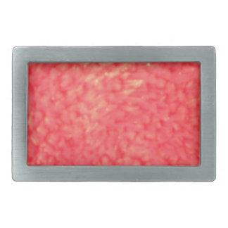 Piel de imitación roja hebillas cinturon rectangulares