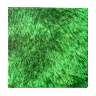 Piel de imitación verde azulejo cuadrado pequeño