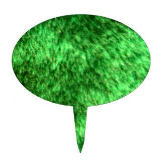 Piel de imitación verde figura para tarta