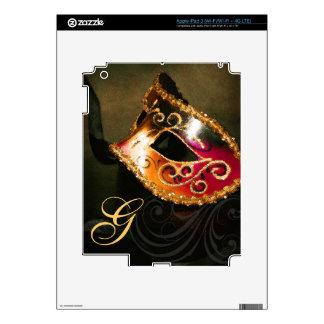 Piel de Ipad de la máscara de la mascarada del oro iPad 3 Skin