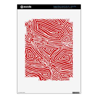 Piel de IPad - rojo de Scribbleprints iPad 3 Skins