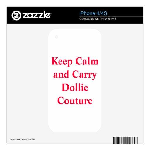 Piel de Iphone 4/4s de las costuras de Dollie iPhone 4S Skin