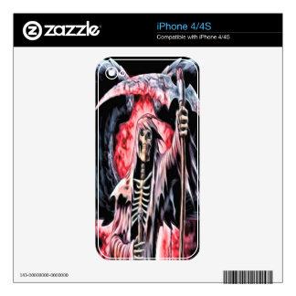 Piel de Iphone 4 del segador de la sangre Calcomanías Para iPhone 4