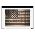 Piel de la bandera americana del vintage para el o portátil calcomanías