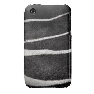 Piel de la cebra de Blk&Wht iPhone 3 Case-Mate Protectores