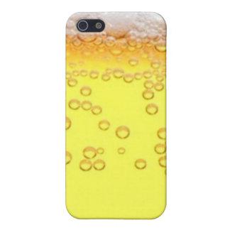 Piel de la cerveza iPhone 5 carcasas