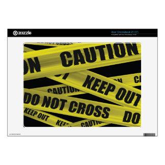 Piel de la cinta de la precaución - Acer Chromeboo Acer Chromebook Calcomanías