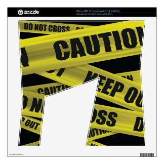 Piel de la cinta de la precaución - consola de Xbo Xbox 360 S Skin