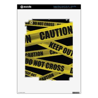 Piel de la cinta de la precaución - iPads Pegatinas Skins Para iPad 3